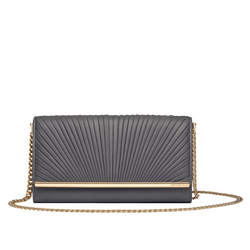 Grace Han Ballet Lesson Chain Wallet in Gull Grey