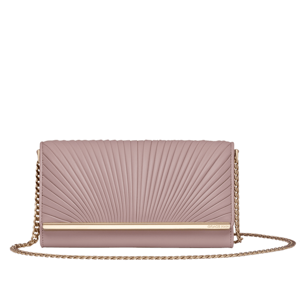 Grace Han Ballet Lesson Chain Wallet in Rose Smoke