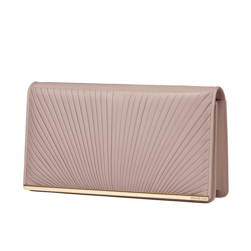 Ballet Lesson Large Clutch Bag Rose Smoke