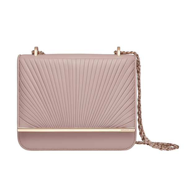 Grace Han Ballet Lesson Small Chain Bag in Rose Smoke