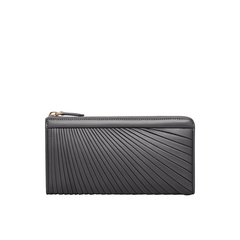 Grace Han Ballet Twirl Long Zip Wallet in Gull Grey