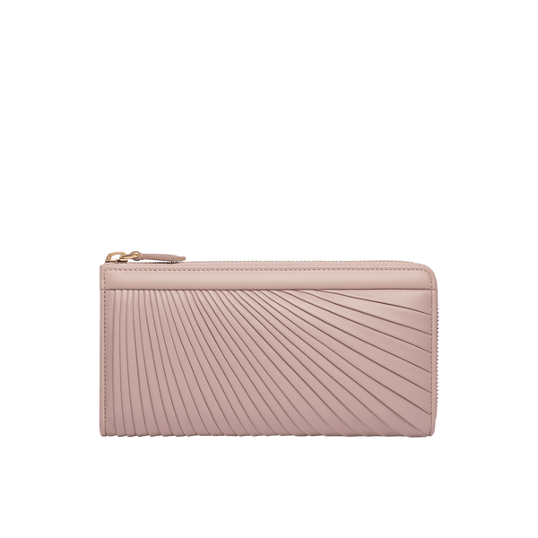 Grace Han Ballet Twirl Long Zip Wallet in Rose Smoke