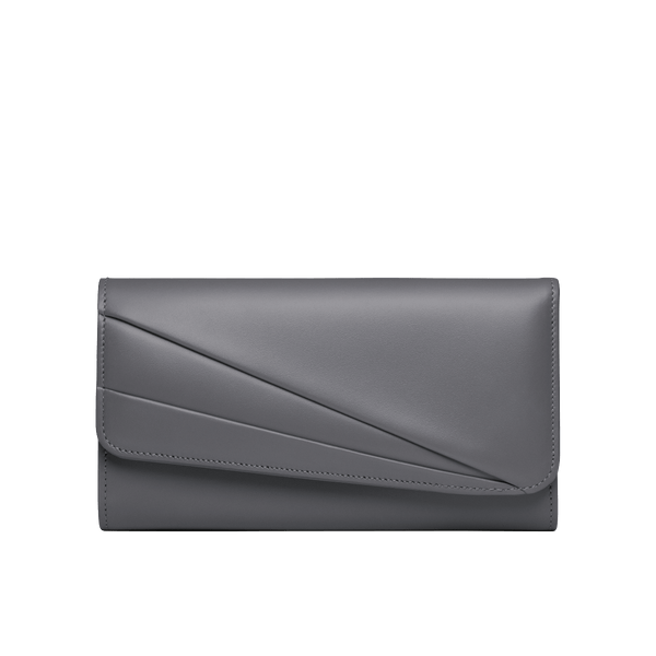 Grace Han Butterfly Long Wallet in Gull Grey