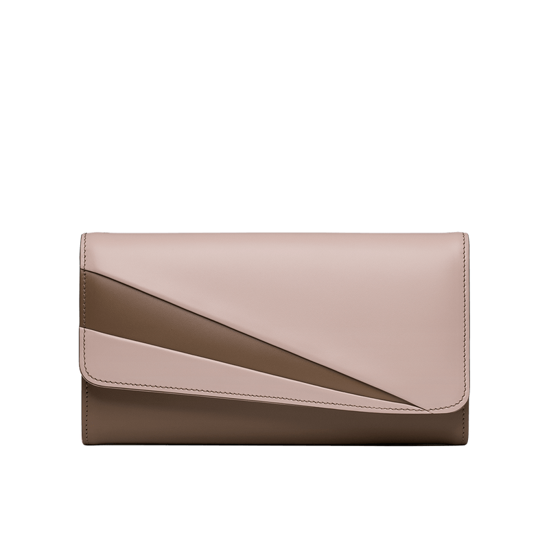 Grace Han Butterfly Long Wallet in Clay and Rose