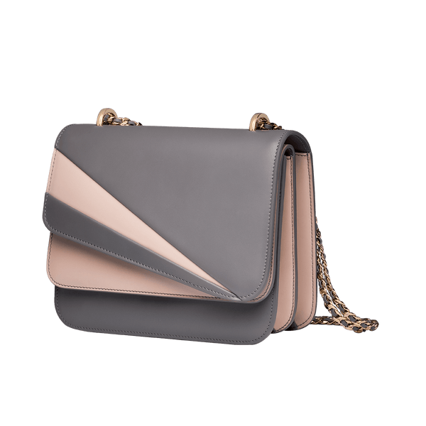 Butterfly Small Double Flap Grey/Rose