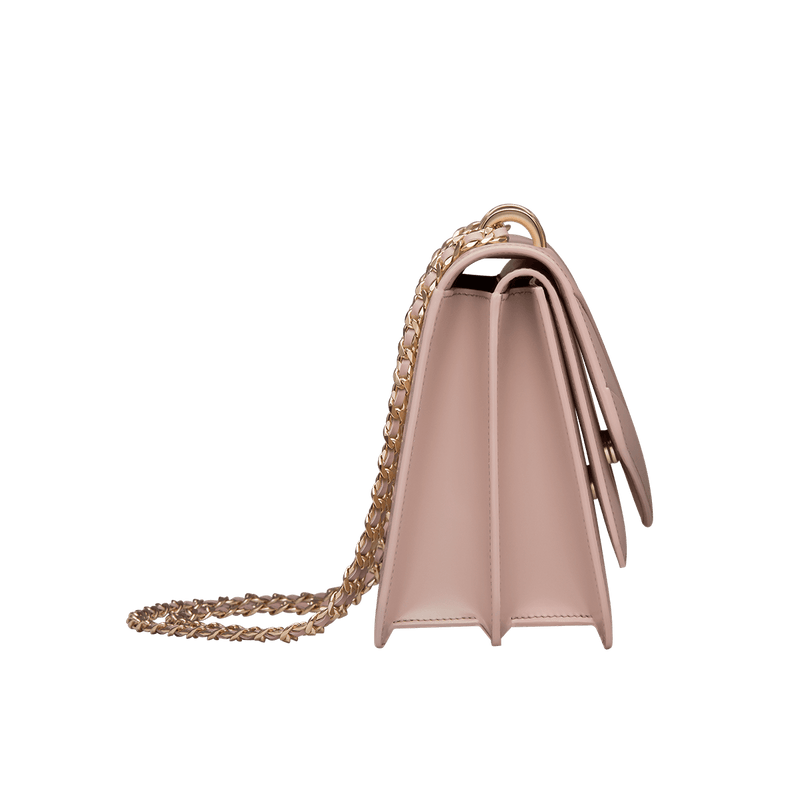 Butterfly Small Double Flap Chain Bag Rose Smoke