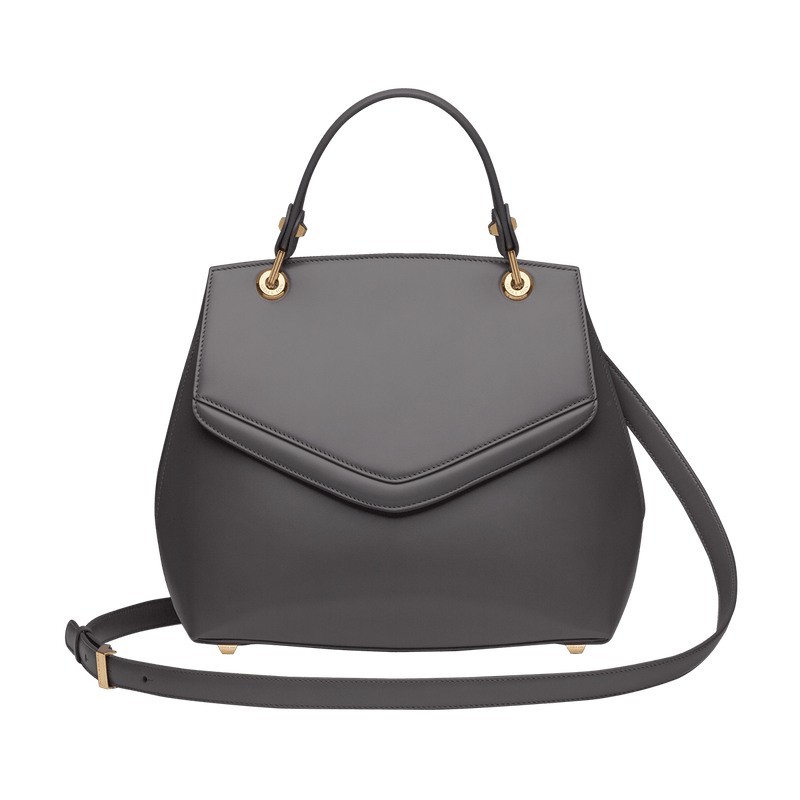 Love Letter Large Top Handle Bag Gull Grey