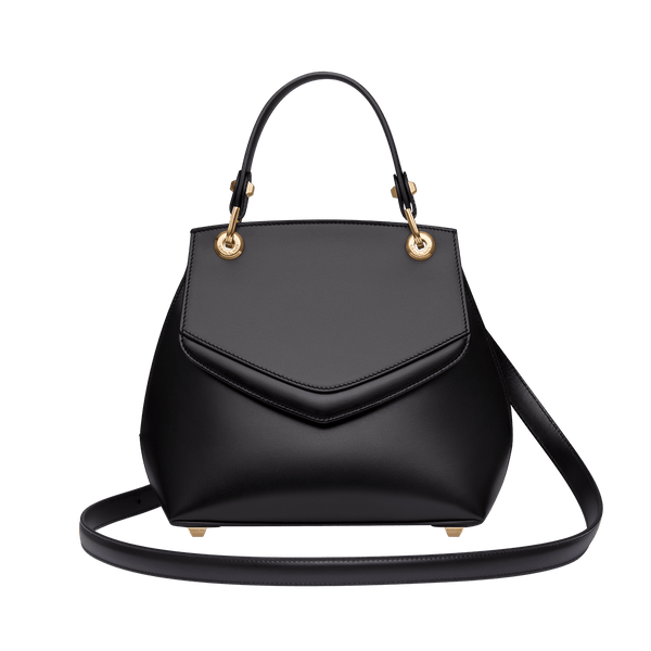 Love Letter Small Top Handle Bag Black