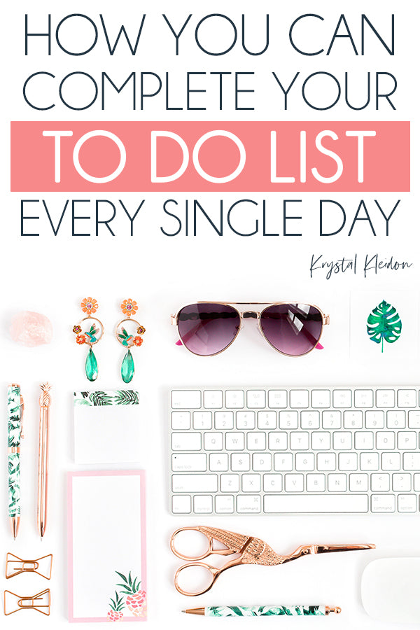 Struggling to keep on top of your to do list? You're not the only one! Use these tips to help you actually complete your to do list each day and become even more productive!