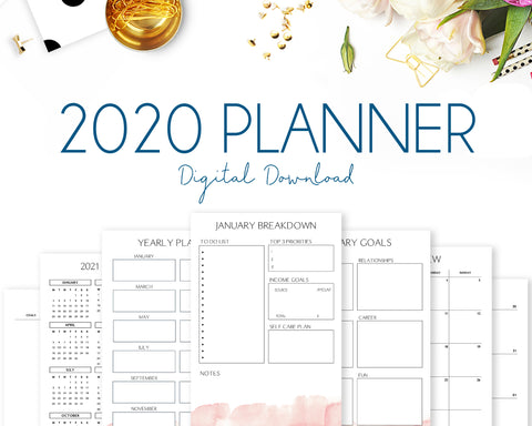 2020 Planner - Watercolour