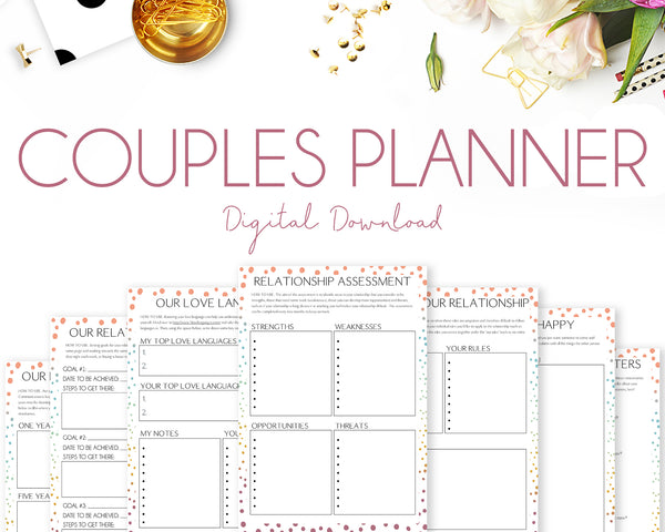 Couples Planner - Colourful Dots