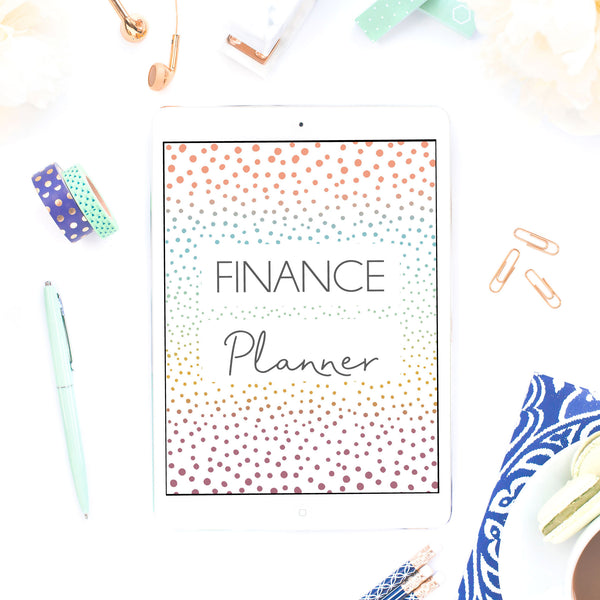 Finance Planner - Colourful Dots
