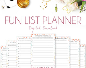 Fun List Planner - Colourful Dots