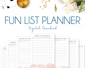 Fun List Planner - Watercolour