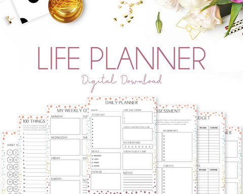 Life Planner - Colourful Dots