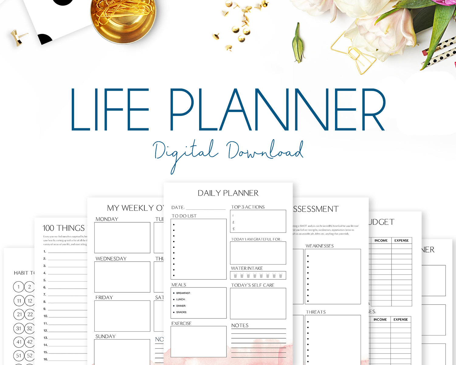 Life Planner - Watercolour