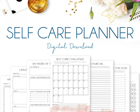 Self Care Planner - Watercolour