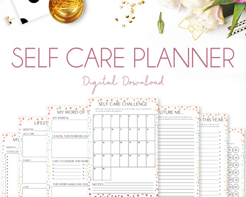 Self Care Planner - Colourful Dots