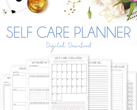 Self Care Planner - Geometric