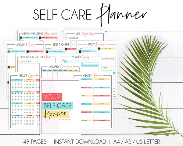 Make this year the year to put yourself first with our Self Care Planner, designed to help you do just that. Check out this amazing printable planner, instant download so you can get to work on your own self care as soon as possible! #selfcare #selflove #printableplanner #selfcarebinder #selfcareplanner