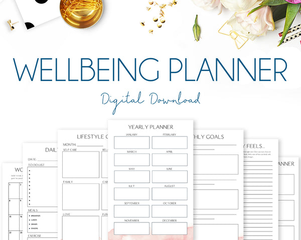 Wellbeing Planner - Watercolour