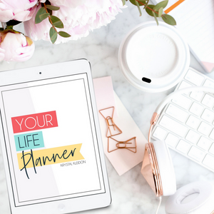 Take control of your life with the Life Planner, and have fun while you're doing it too! Tons of pages including a big focus on self care! #selfcare #lifeplanner #planner #organizeyourlife #printable