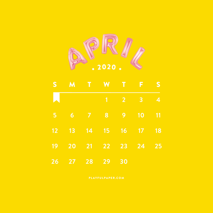 April Phone Wallpaper With Calendar