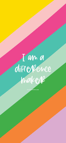 i am a difference maker wallpaper