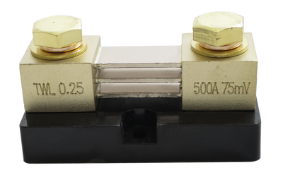 Premium 500A / 75mV Shunt with Mounting Base (0.25% tolerance) - Thornwave Labs