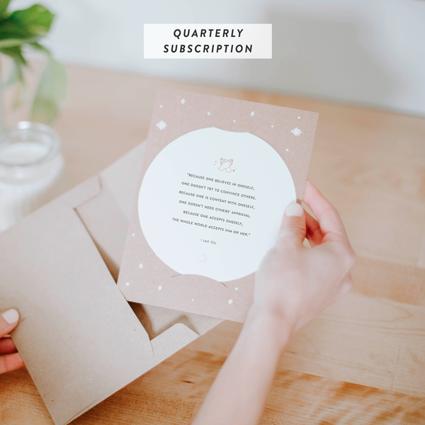 Inspiration Cards Quarterly Subscription Add-On : By The Moon - Inspiration Cards & Displays