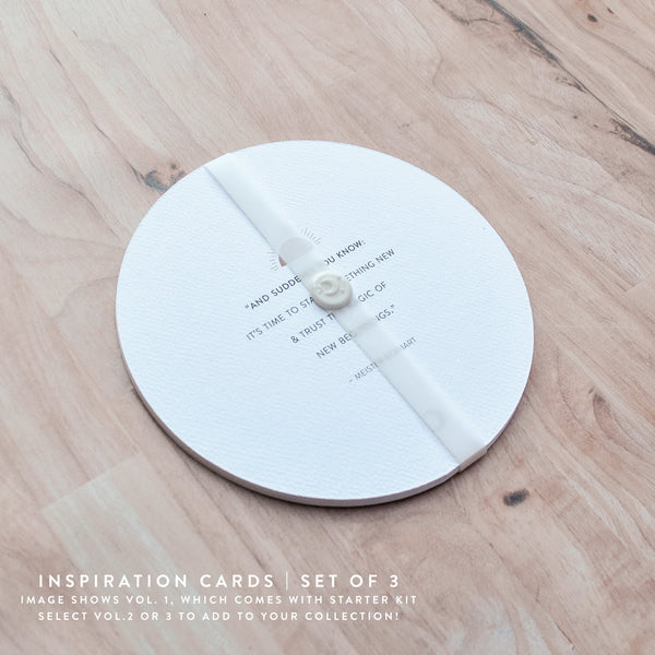 Curated Inspiration Cards - Set of 3 : By the Moon - Inspiration Cards & Displays
