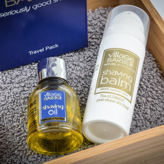 Premium Shaving Travel Pack - Village Barber Shaving Oil & Balm