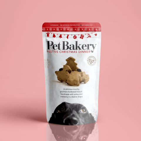 Packaging for Festive Christmas Dinner by the Pet Bakery