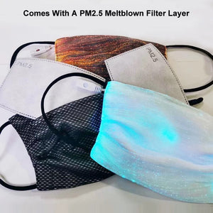 LED REUSABLE FACE MASK PEARL WHITE