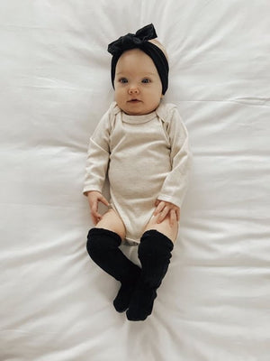 Long Sleeve Oatmeal Onesie