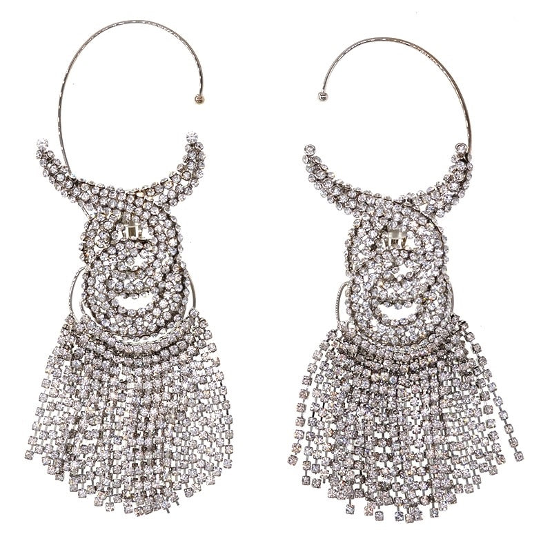 Nasty fringe earrings