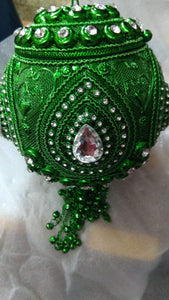 Jewel Incrusted Round Purse