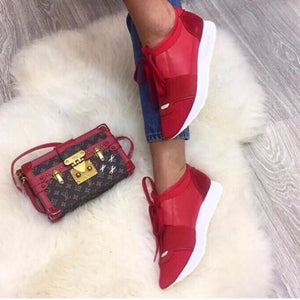 Race Runner Leather Balenciaga Sneakers Red