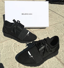Load image into Gallery viewer, Race Runner Balenciaga Sneakers Black black