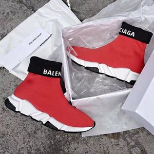 Balenciaga Speed Trainer Sneakers Red White
