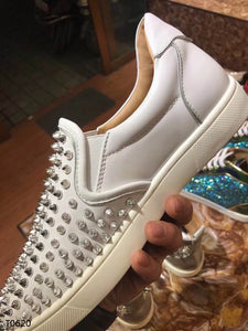 Louboutin Sneakers White Shoes