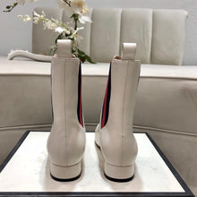 Load image into Gallery viewer, G Leather Boots White
