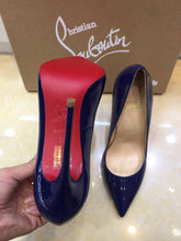 Load image into Gallery viewer, Louboutin Heels Shoes Dark Blue