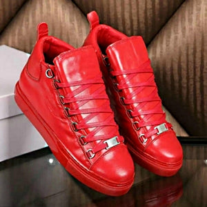 Arena Balenciaga Trainer Sneakers Red