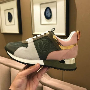 L Leather Sneakers Rose Green