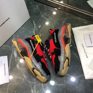Balenciaga Triple S Sneakers Red Clear Sole