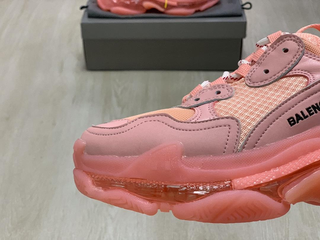 Triple S mesh and leather trainers Balenciaga