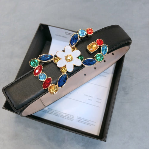 D&G Belt leather Black Stones