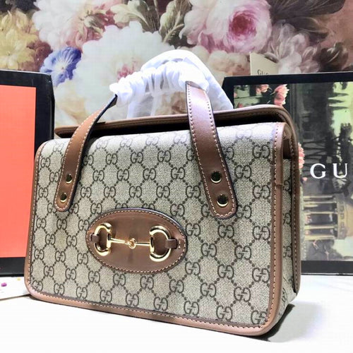G Bag Mono Brown