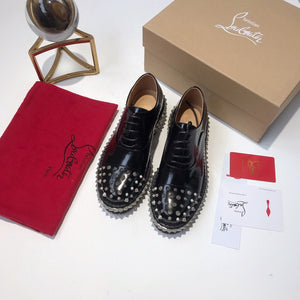Louboutin Shoes Black Studs